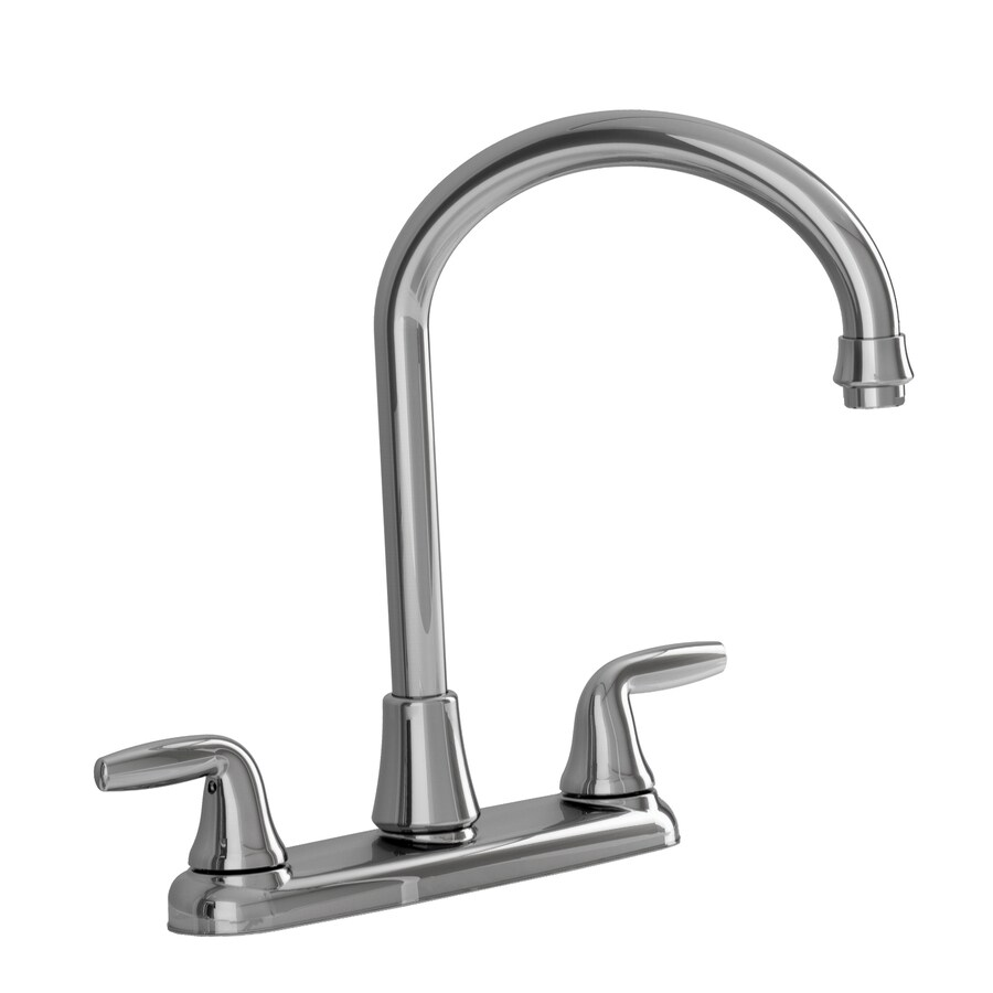 american standard wesley polished chrome 2 handle high arc deck mount kitchen faucet. Interior Design Ideas. Home Design Ideas