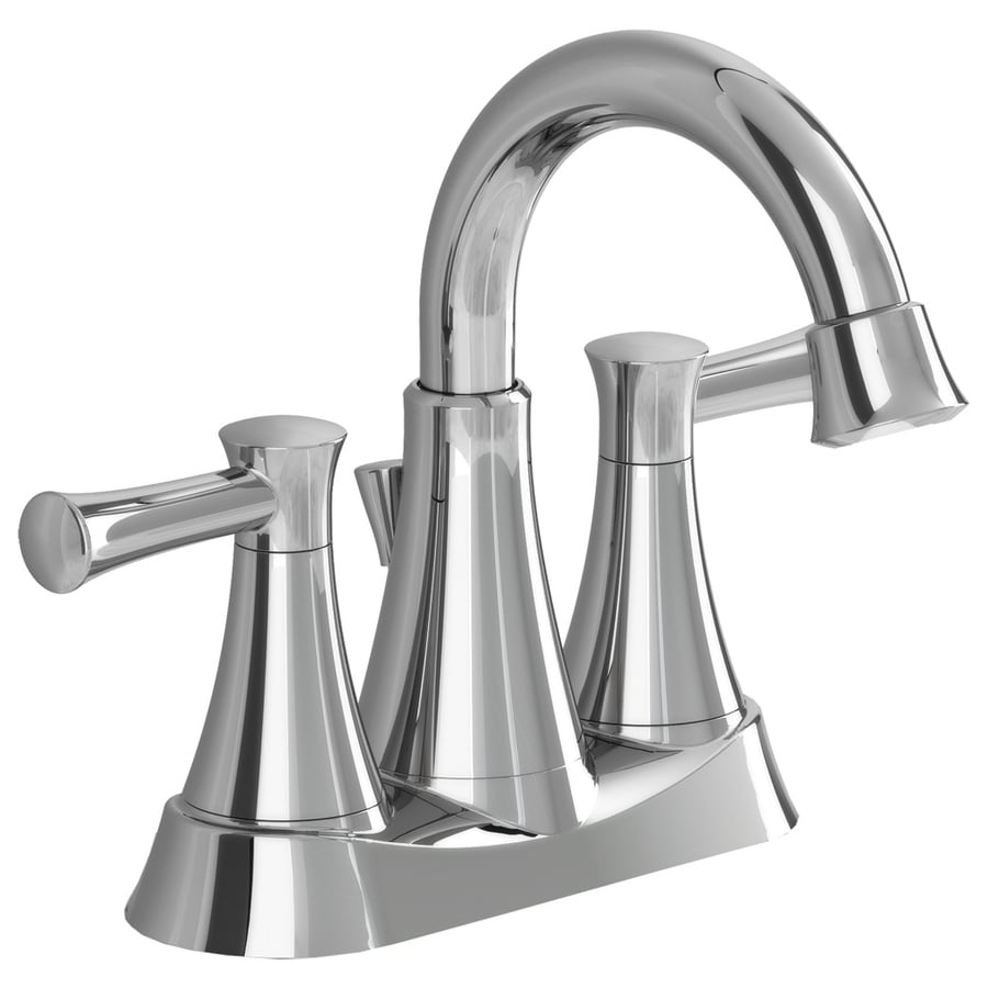 American Standard Avery Chrome 2 Handle 4 In Centerset WaterSense Bathroom  Faucet (Drain