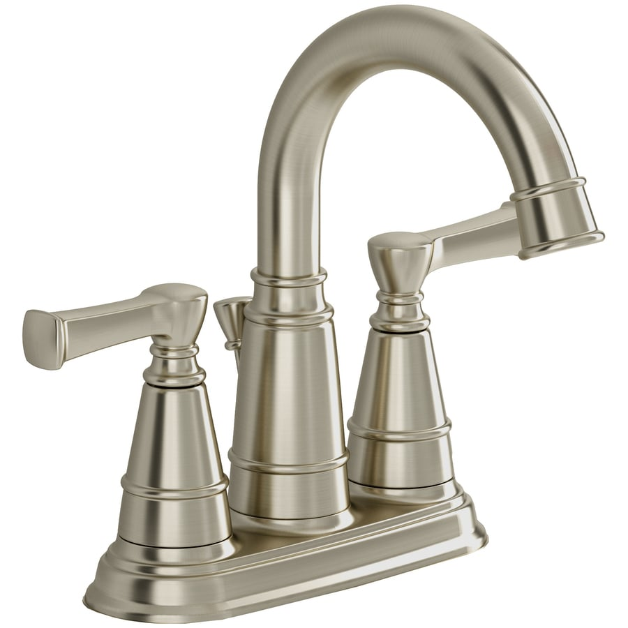 American Standard Thayer Satin Nickel 2-Handle 4-in Centerset WaterSense Bathroom Faucet (Drain Included)