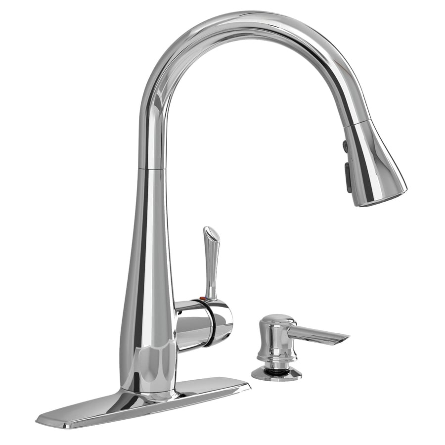 American Standard Olvera Chrome 1-Handle Deck Mount Pull-Down Kitchen Faucet