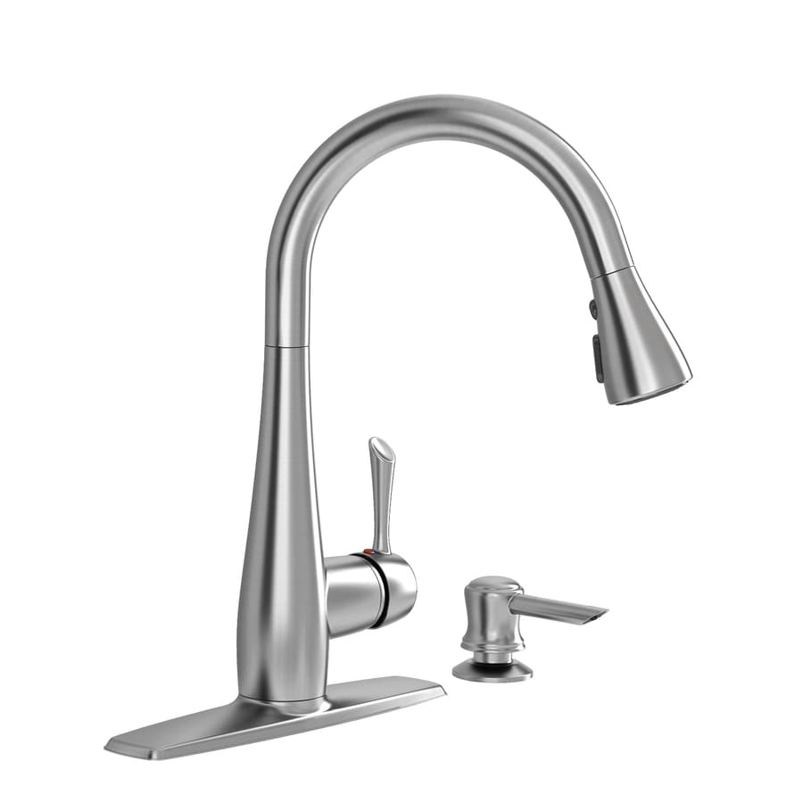 American Standard Olvera Stainless Steel 1-Handle Handle(S) Included Pull-Down Sink/Counter Mount Traditional Kitchen Faucet