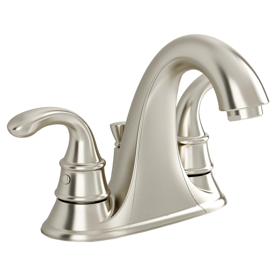 American Standard Harrison Satin Nickel 2-Handle 4-in Centerset WaterSense Bathroom Faucet (Drain Included)
