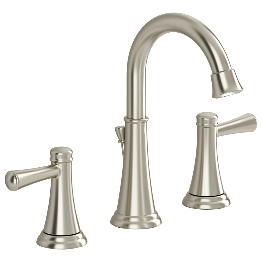American Standard Rosetta Satin Nickel 2-Handle Widespread WaterSense Bathroom Faucet (Drain Included)