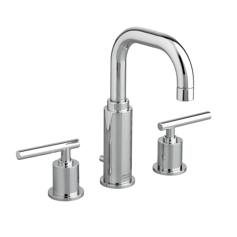 Shop American Standard Serin Polished Chrome 2 Handle Widespread Bathroom Faucet With Drain At