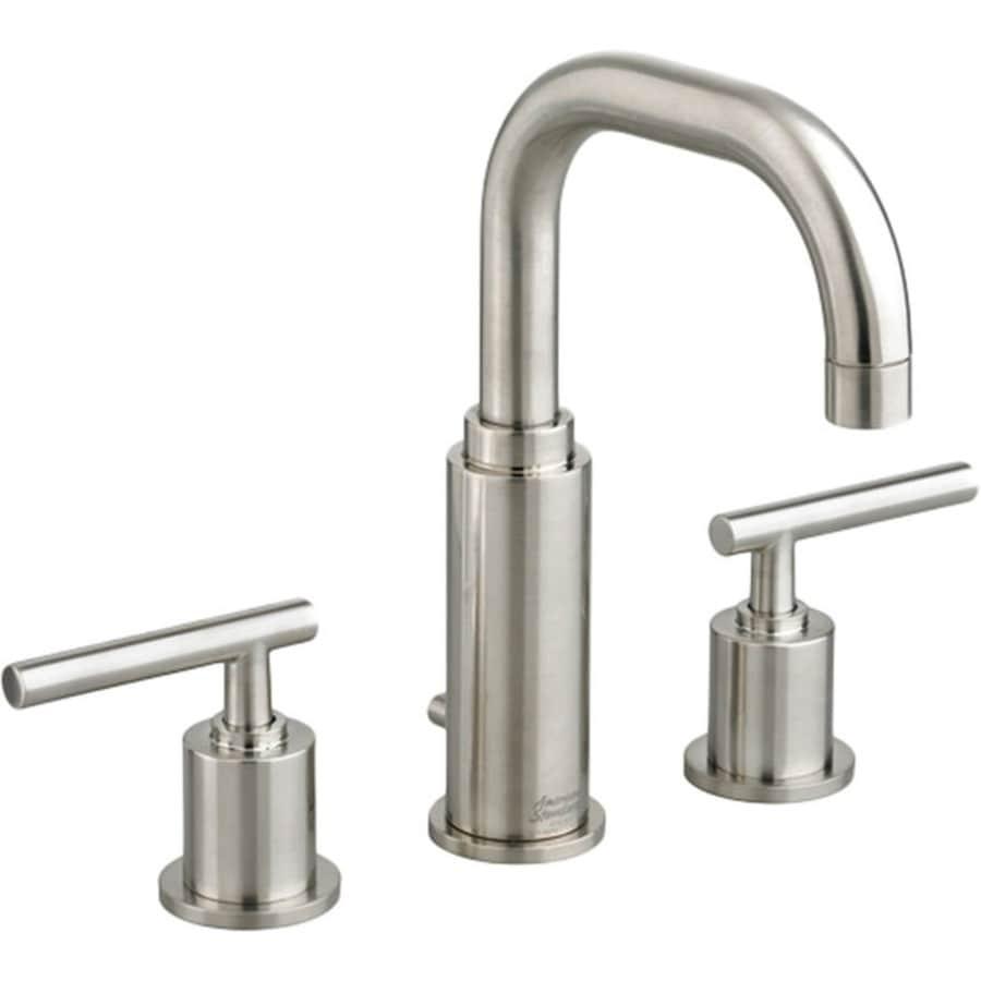 Shop American Standard Serin Satin Nickel 2 Handle Widespread Bathroom Faucet With Drain At