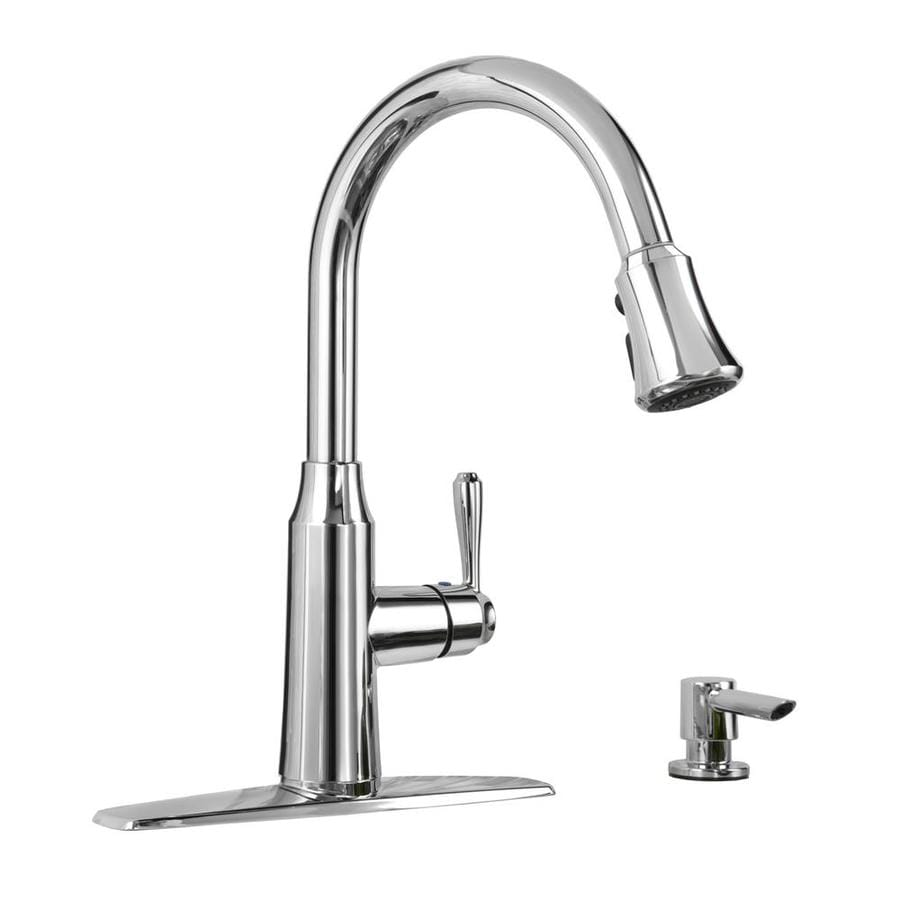 American Standard Soltura Polished Chrome 1 Handle Deck Mount Pull Down Kitchen  Faucet