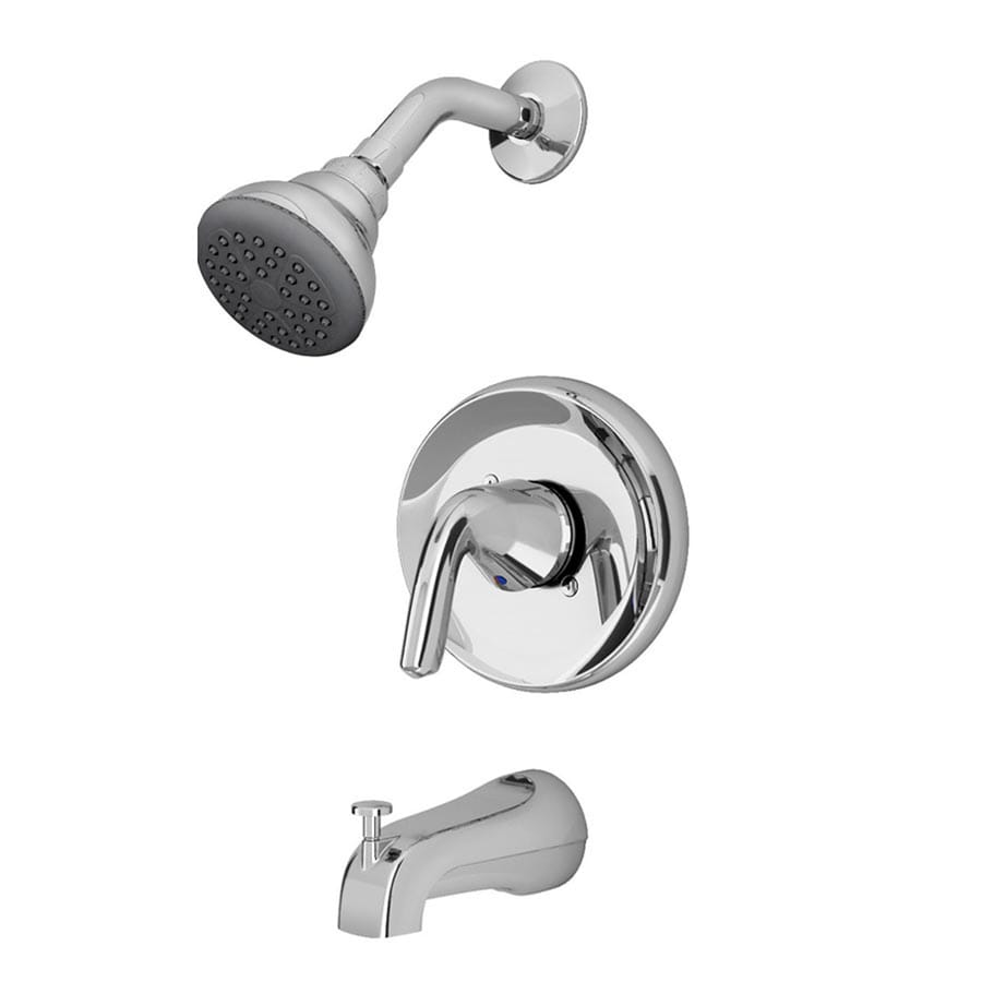 American Standard Covina Chrome 1 Handle Watersense Bathtub And Shower Faucet With Single Function Showerhead