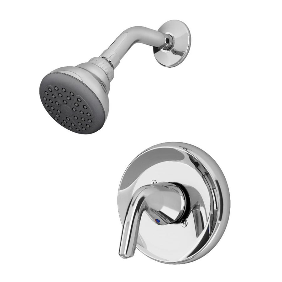 American Standard Covina Chrome 1-Handle WaterSense Shower Faucet with Single Function Showerhead