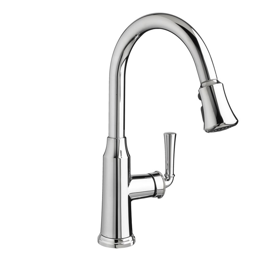 Shop American Standard Portsmouth Polished Chrome 1 Handle Deck Mount Pull Down Kitchen Faucet