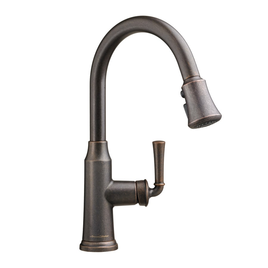 American Standard Portsmouth Oil-Rubbed Bronze 1-Handle Deck Mount Pull-Down Kitchen Faucet