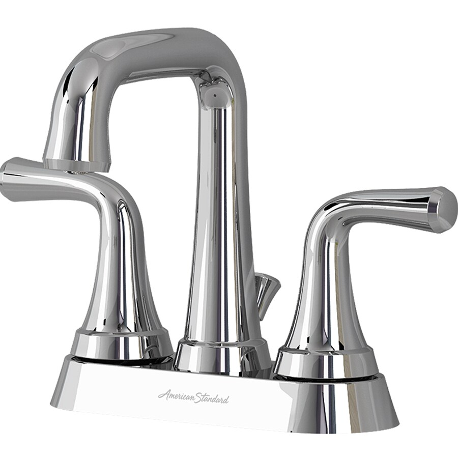 Shop american standard leyton chrome 2 handle 4 in for American standard bathroom faucets reviews