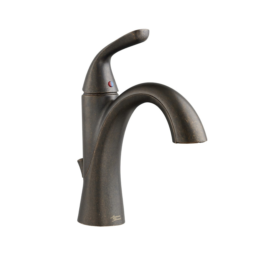 American Standard Fluent Oil Rubbed Bronze 1-Handle Single Hole WaterSense Bathroom Faucet (Drain Included)