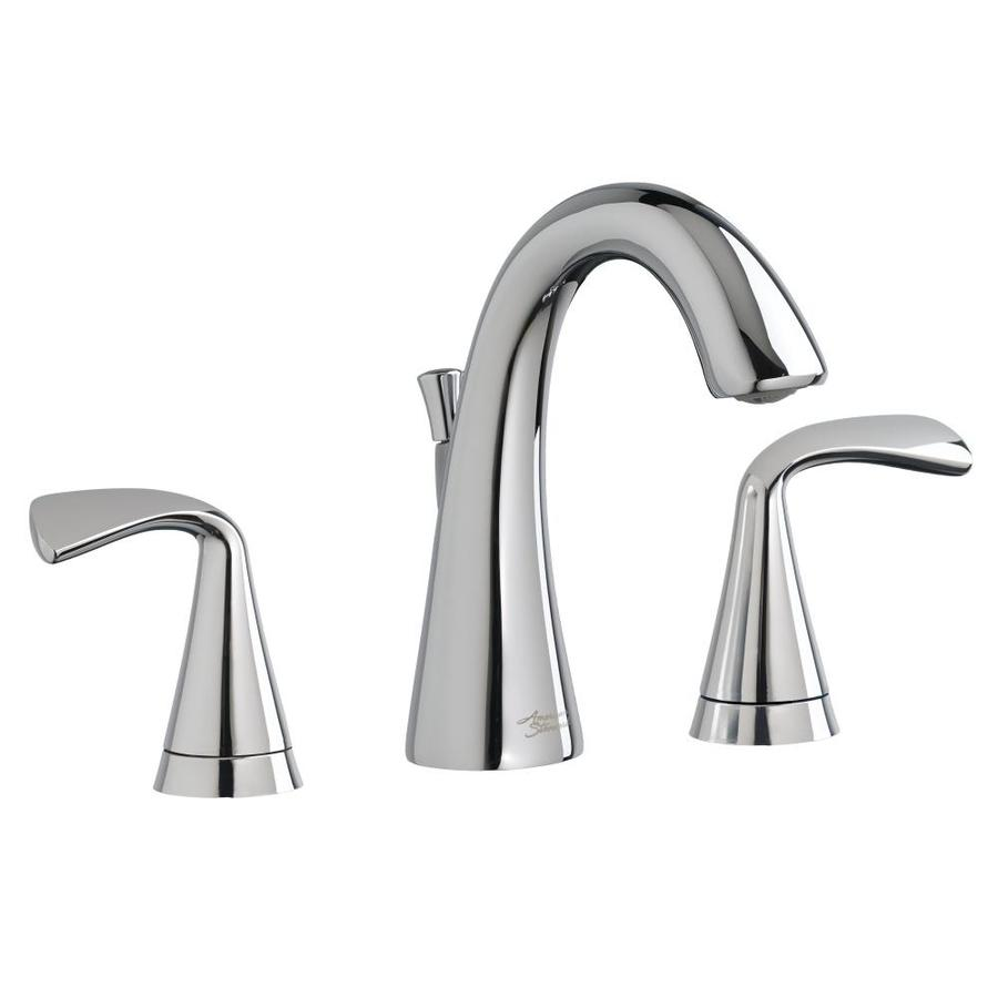 American Standard Fluent Polished Chrome 2-Handle Widespread WaterSense Bathroom Faucet (Drain Included)