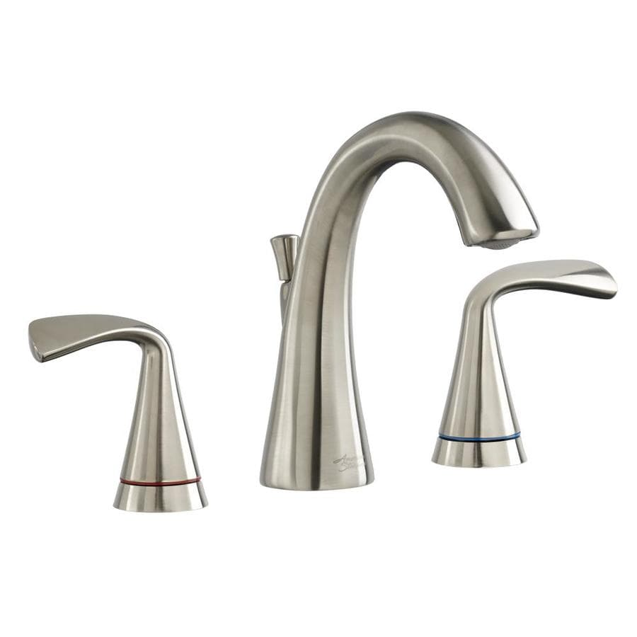 American Standard Fluent Satin Nickel 2-Handle Widespread WaterSense Bathroom Faucet (Drain Included)
