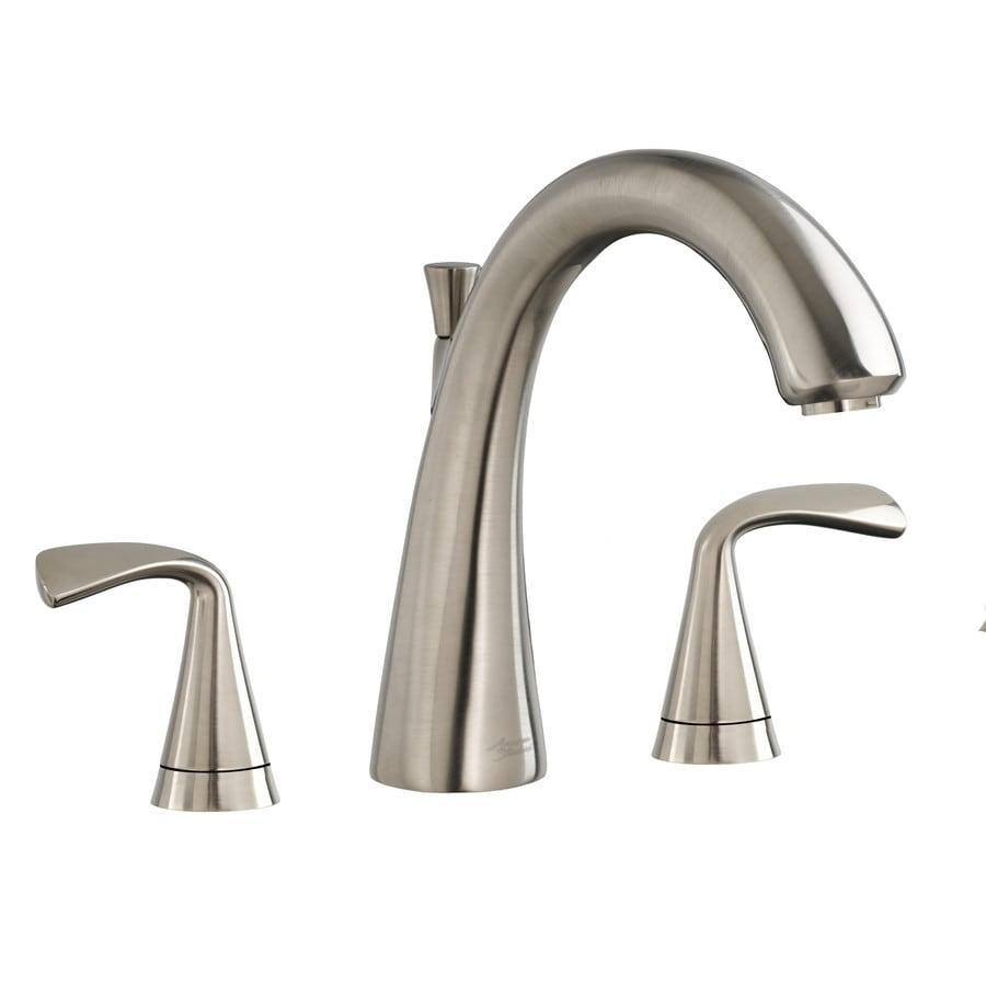 American Standard Fluent Satin Nickel 2-Handle Deck Mount Bathtub Faucet