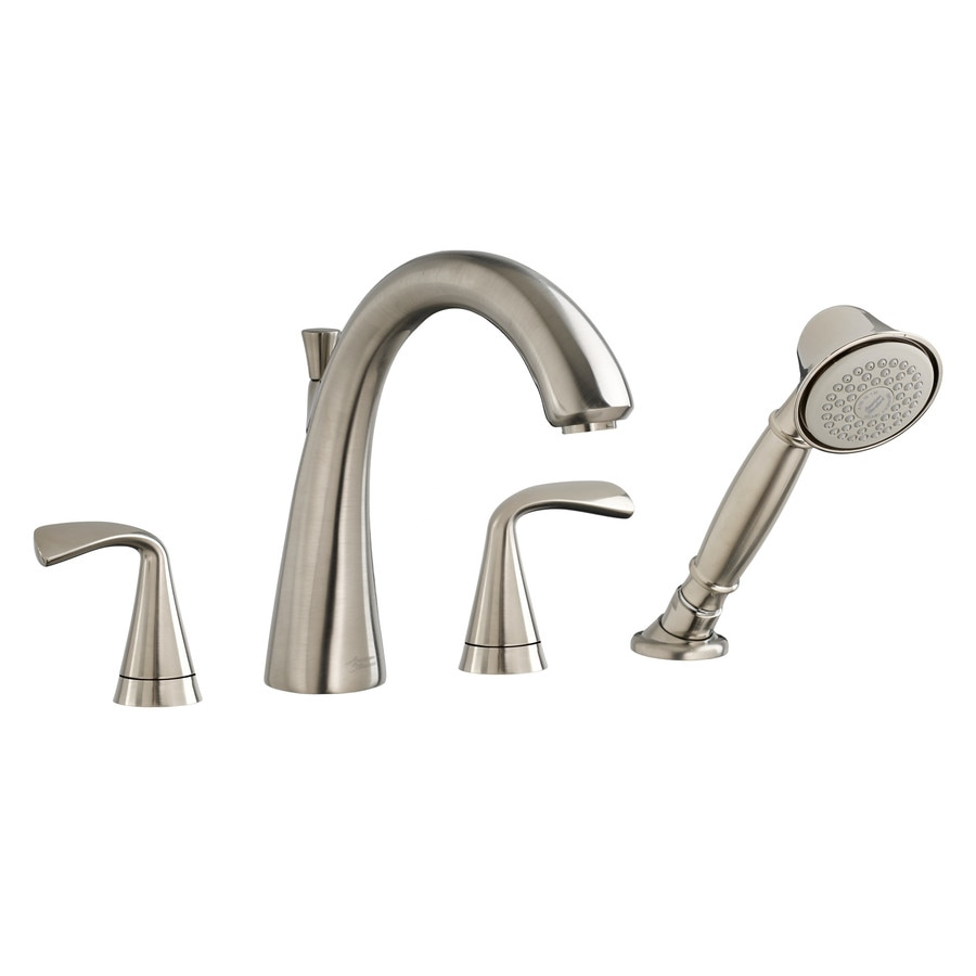 American Standard Fluent Satin Nickel 2-Handle Deck Mount Bathtub Faucet
