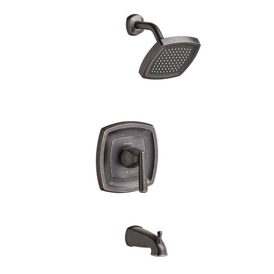 American Standard Kirkdale Legacy Bronze 1-Handle WaterSense Bathtub and Shower Faucet with Single Function Showerhead