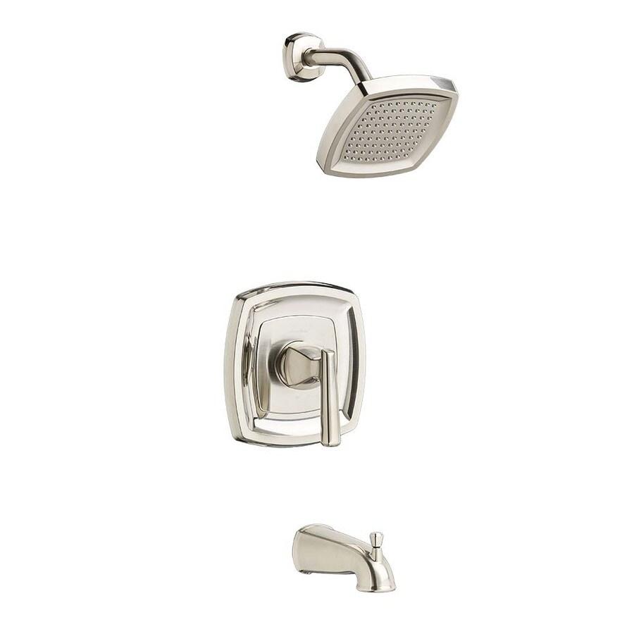 American Standard Kirkdale Brushed Nickel 1-Handle WaterSense Bathtub and Shower Faucet with Single Function Showerhead