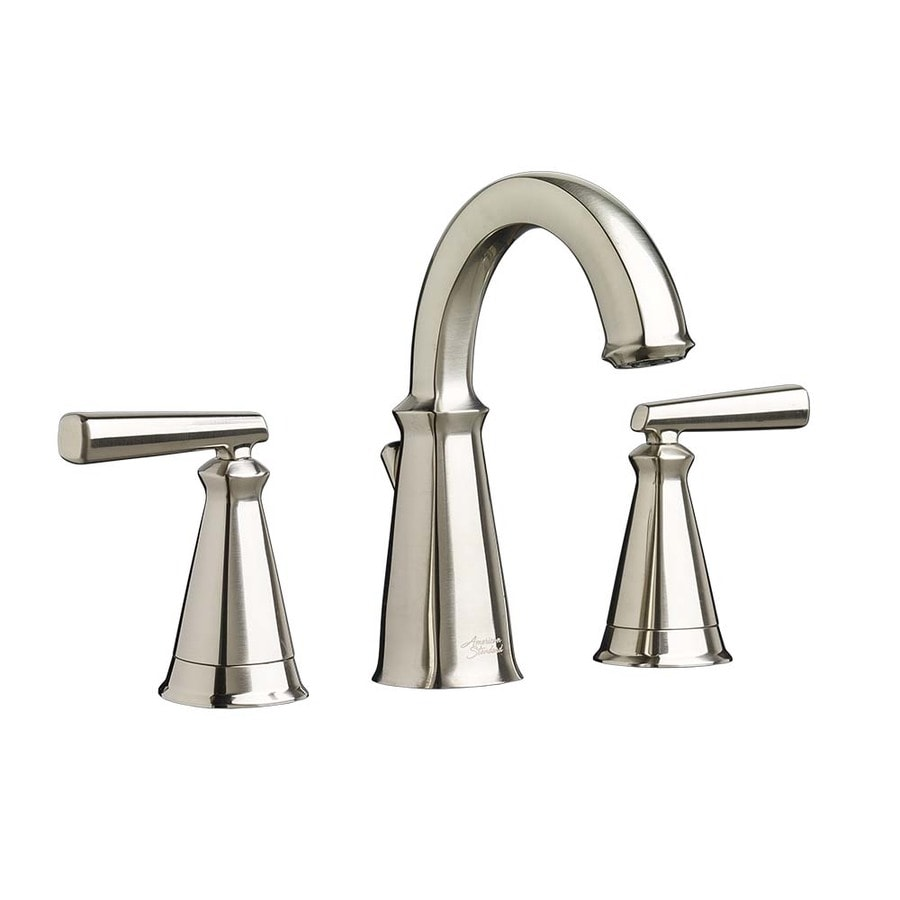 American Standard Kirkdale Brushed Nickel 2 Handle Widespread Watersense Bathroom Faucet