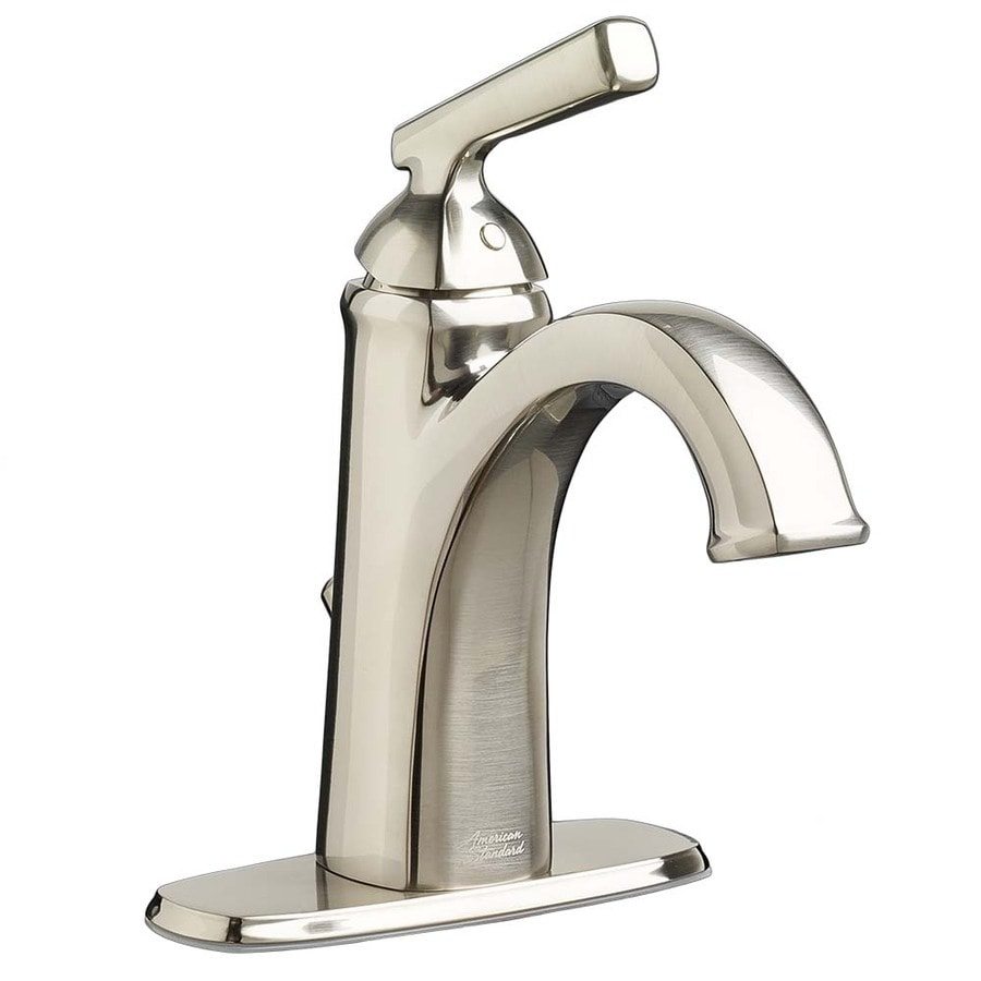 brushed nickel 1 handle single hole watersense bathroom faucet at