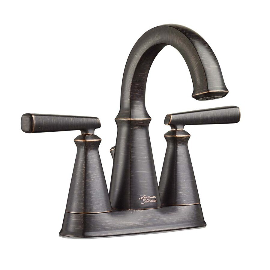 American Standard Kirkdale Legacy Bronze 2-Handle 4-in Centerset WaterSense Bathroom Faucet
