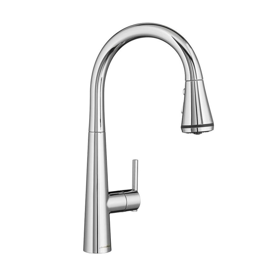 american standard edgewater polished chrome 1 handle pull down kitchen
