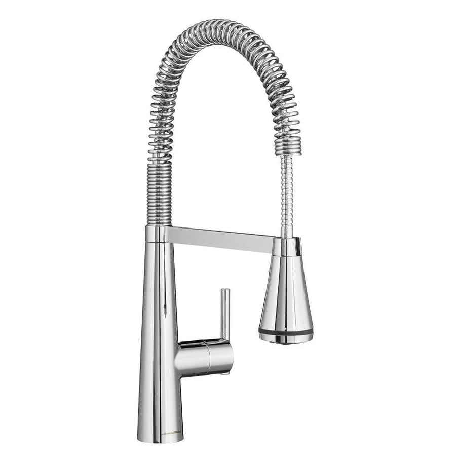 American Standard Edgewater Polished Chrome 1-Handle Deck Mount Pull-Down Kitchen Faucet
