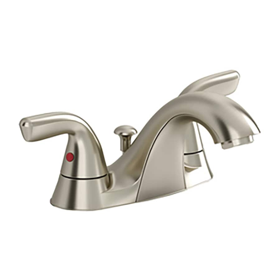 Shop american standard covina satin nickel 2 handle 2 hole for Bathroom faucets lowes