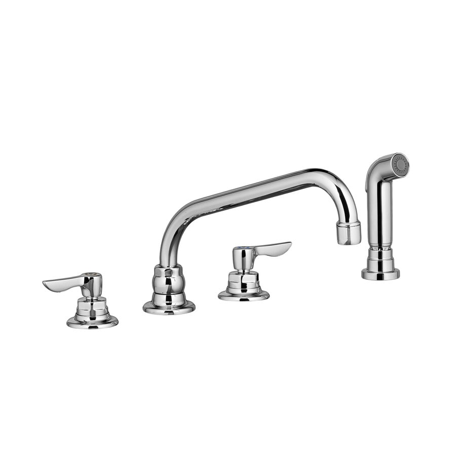 American Standard Monterrey Polished Chrome 2-Handle Deck Mount High-Arc Kitchen Faucet