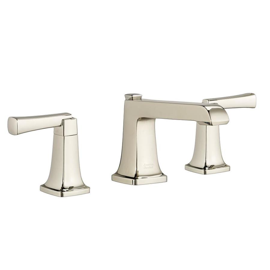 American Standard Townsend Polished Nickel 2-Handle Widespread WaterSense Bathroom Faucet (Drain Included)