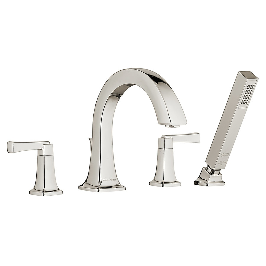 American Standard Townsend Polished Nickel 2-Handle Fixed Deck Mount Bathtub Faucet