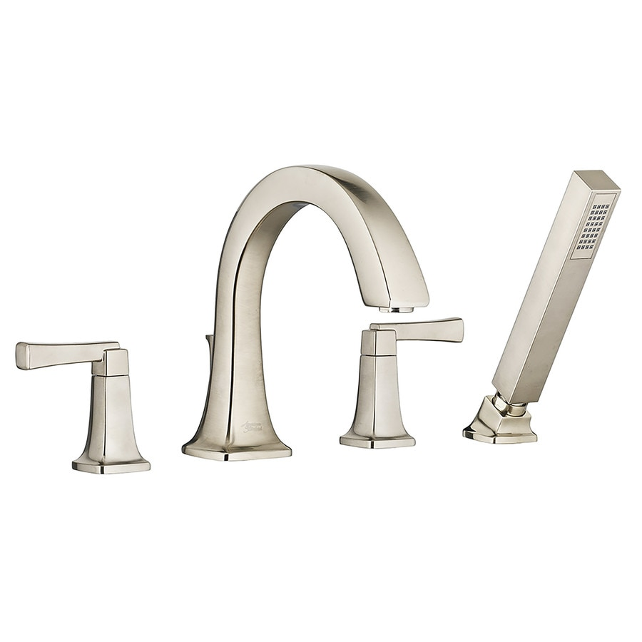 American Standard Townsend Satin Nickel 2-Handle-Handle Fixed Deck Mount Bathtub Faucet