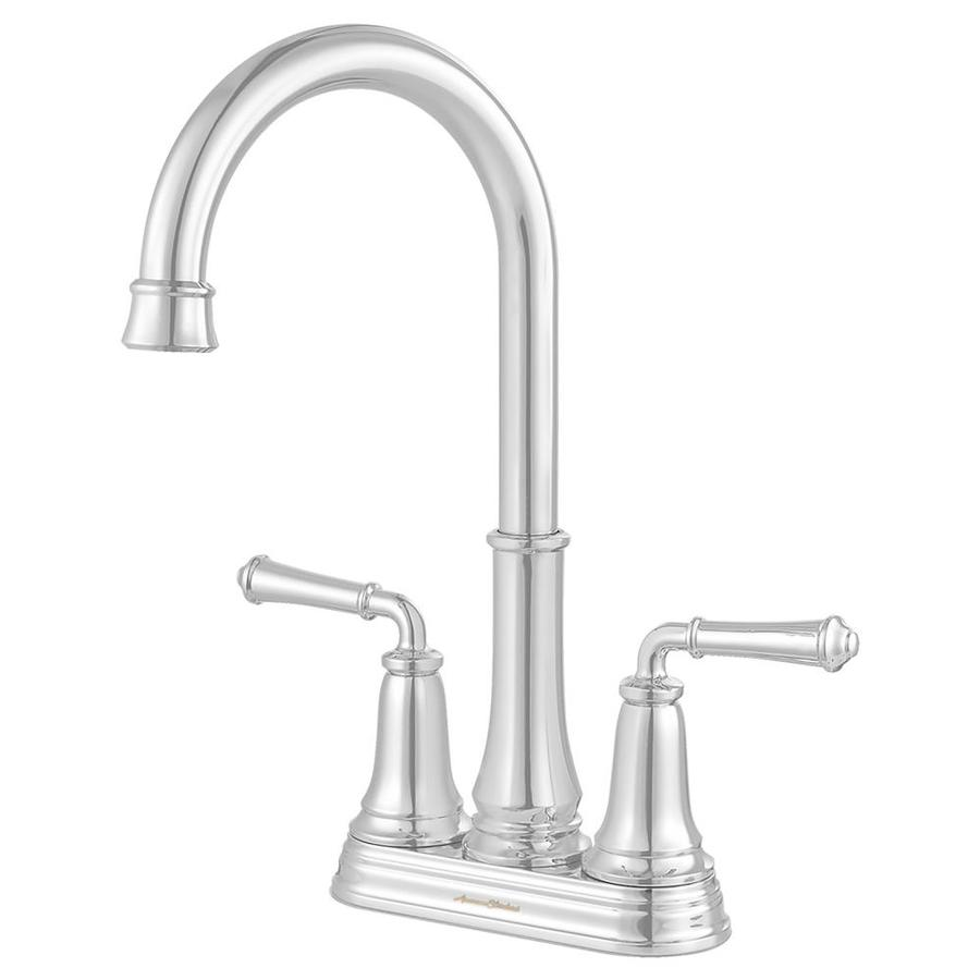 Shop American Standard Delancey Polished Chrome 2 Handle Deck Mount High Arc Kitchen Faucet At