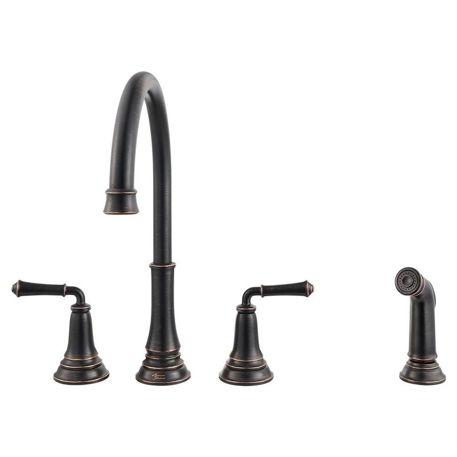 American Standard Delancey Legacy Bronze 2-Handle Deck Mount High-arc Kitchen Faucet