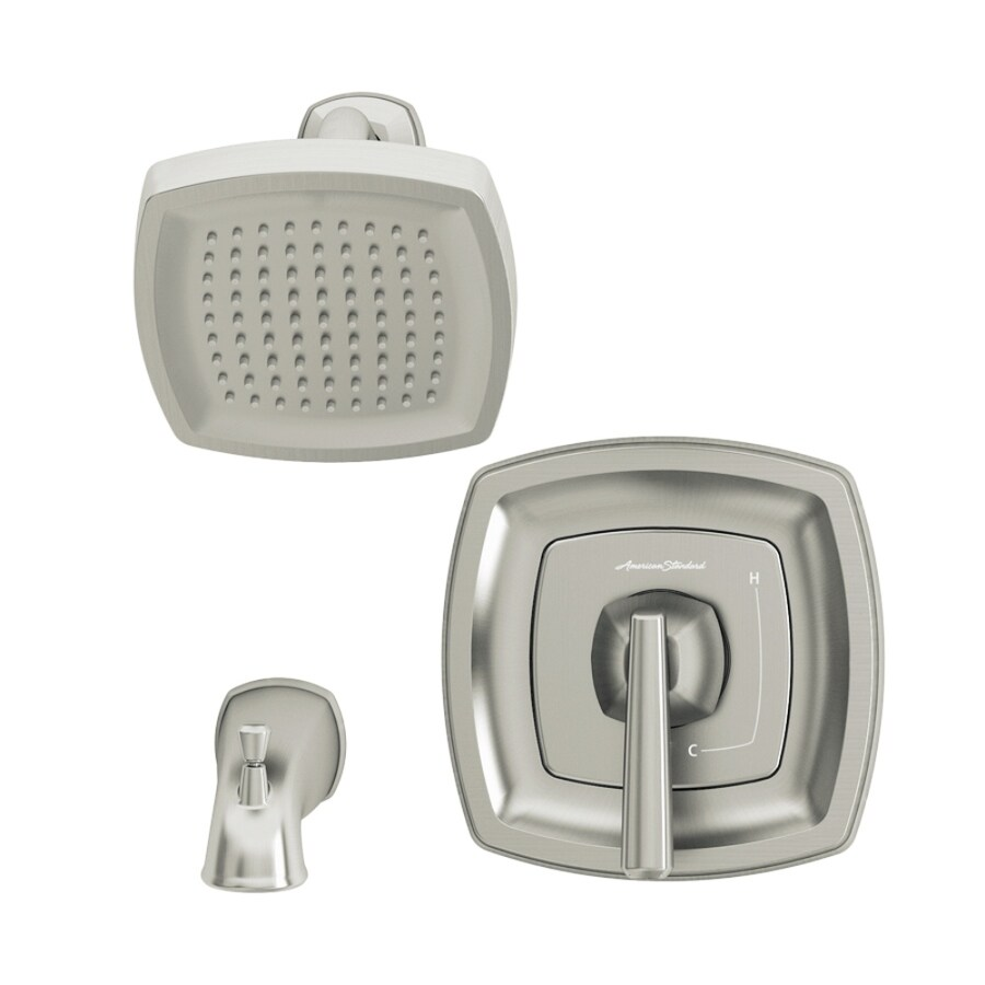 American Standard Edgemere Brushed Nickel 1-Handle WaterSense Bathtub and Shower Faucet