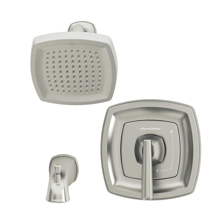 American Standard Edgemere Brushed Nickel 1 Handle Bathtub