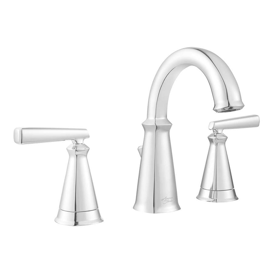 Shop american standard edgemere chrome 2 handle widespread for American standard bathroom faucets reviews