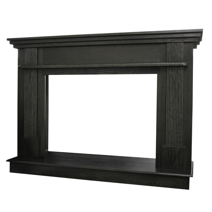 Ashley Hearth Products Ashley 56.5-in W x 40.65-in H Black Walnut Asian hardwood Traditional Fireplace Surround