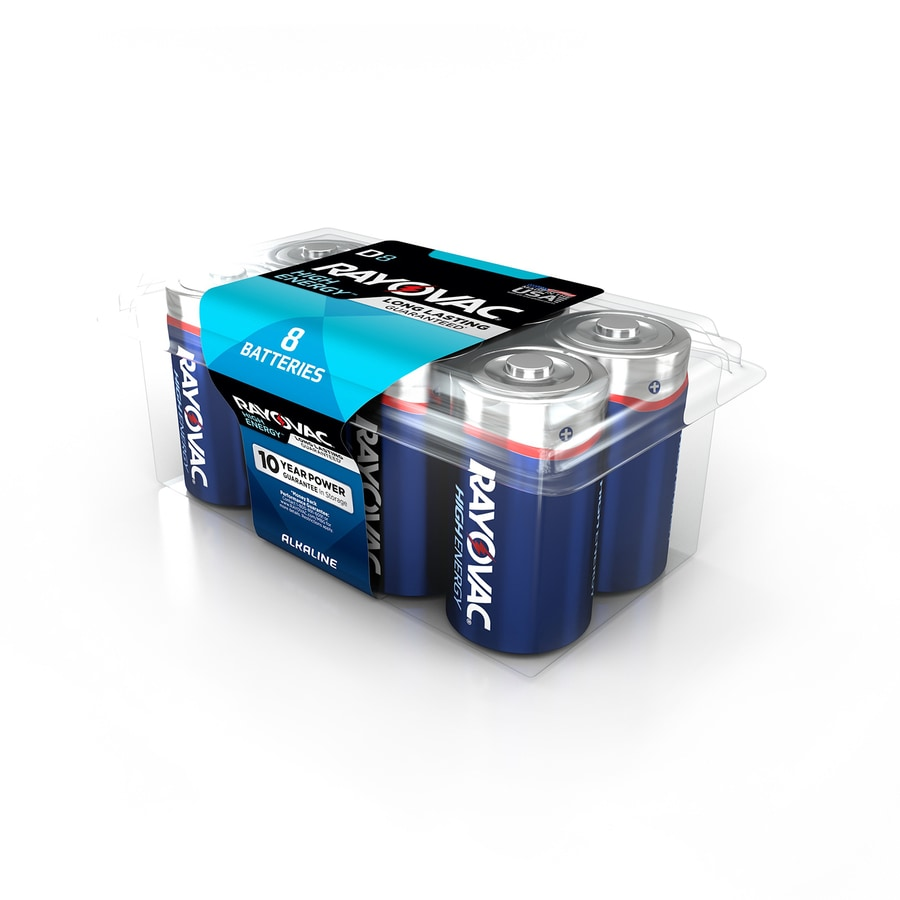 Rayovac 8-Pack D Alkaline Battery