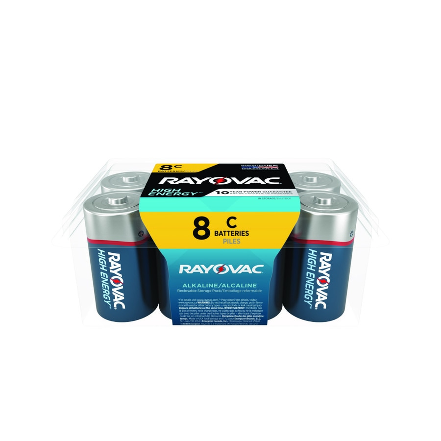 Rayovac 8-Pack C Alkaline Battery