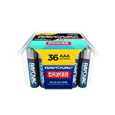 High Energy Alkaline Aaa Batteries 36 Pack