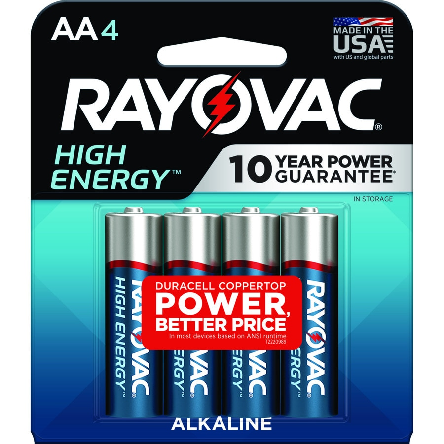 Rayovac 4-Pack AA Alkaline Batteries