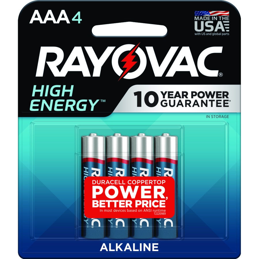 Rayovac 4-Pack AAA Alkaline Batteries