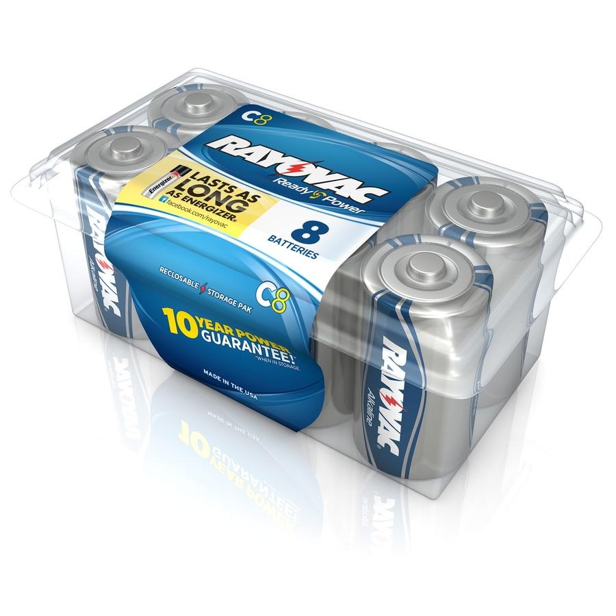 Rayovac 8-Pack C Alkaline Batteries