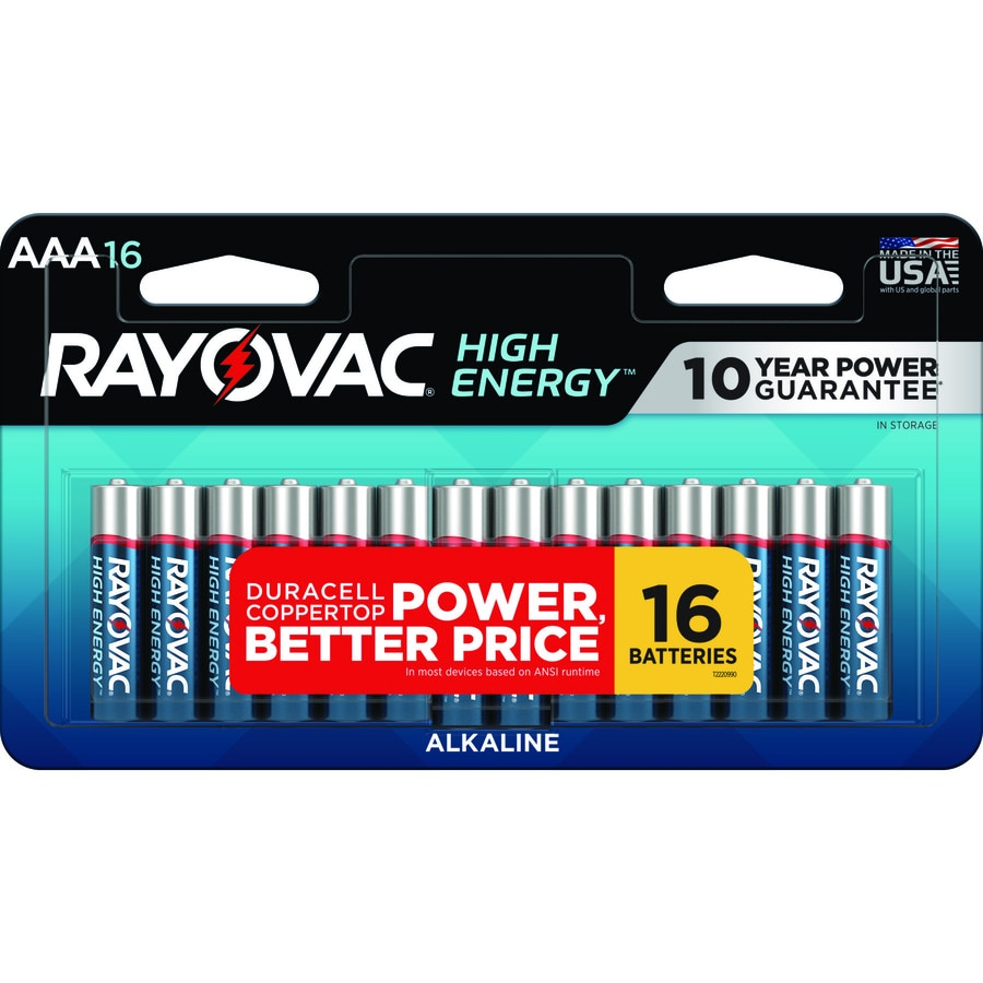 Rayovac 16-Pack AAA Alkaline Batteries