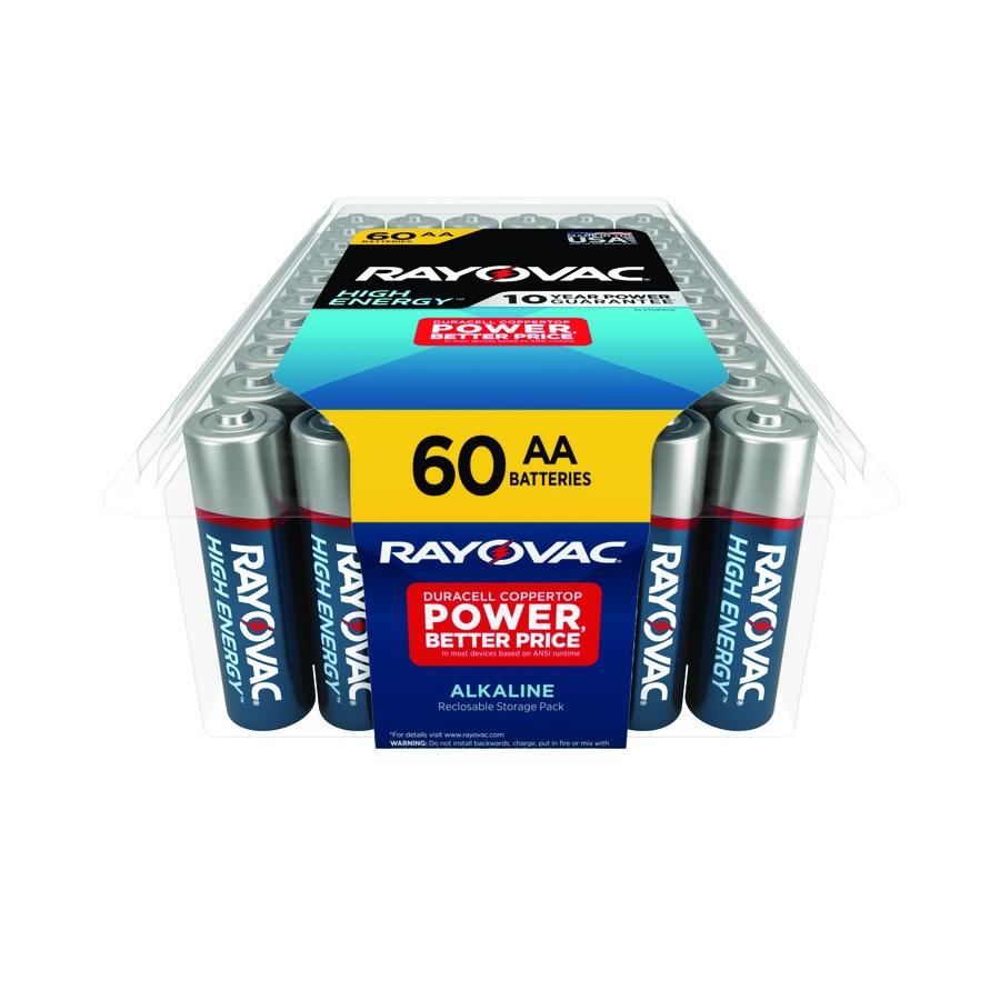Rayovac 60-Pack AA Alkaline Battery