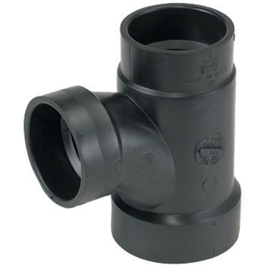 Mueller Streamline 2-in x 1-1/2-in x 2-in Dia ABS Sanitary Tee Fitting