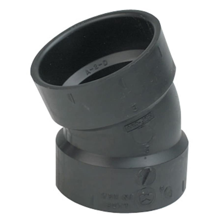 Mueller Streamline 4-in Dia 22-1/2-Degree ABS Elbow Fitting