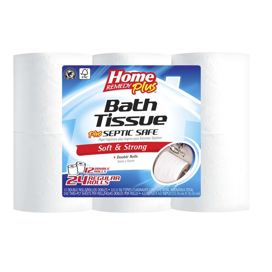 Home Remedy Plus 12-Pack Toilet Paper