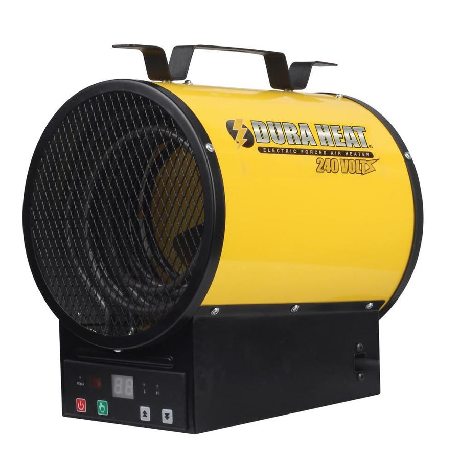 Shop electric space heaters at lowes duraheat 3750 watt utility fan utility electric space heater with thermostat and remote izmirmasajfo